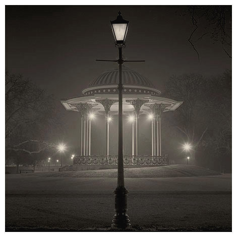 lamp bandstand night clapham common